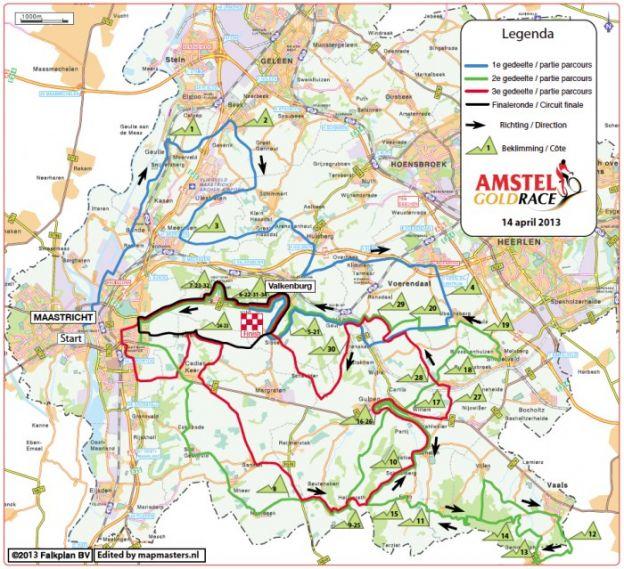 Amstel Gold Race 2013 percorso