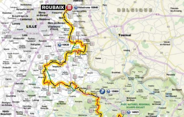 Parigi Roubaix 2013 percorso
