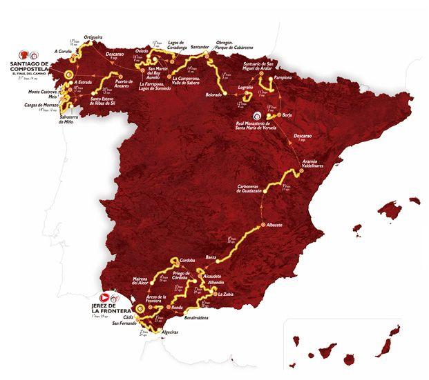 Vuelta di Spagna 2014 tappe e percorso