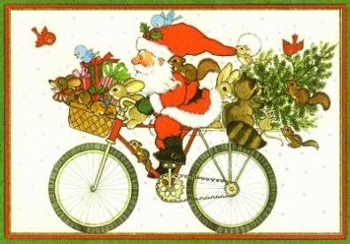 babbo natale ciclismo