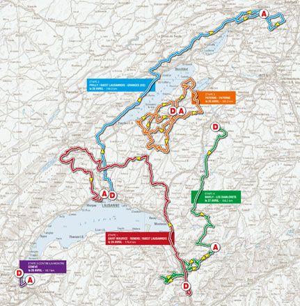 Giro di Romandia 2013 altimetria