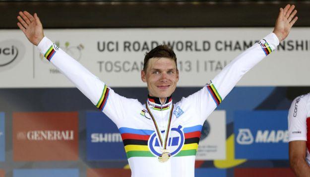Tony Martin campione del mondo a cronometro, tris a Firenze 2013
