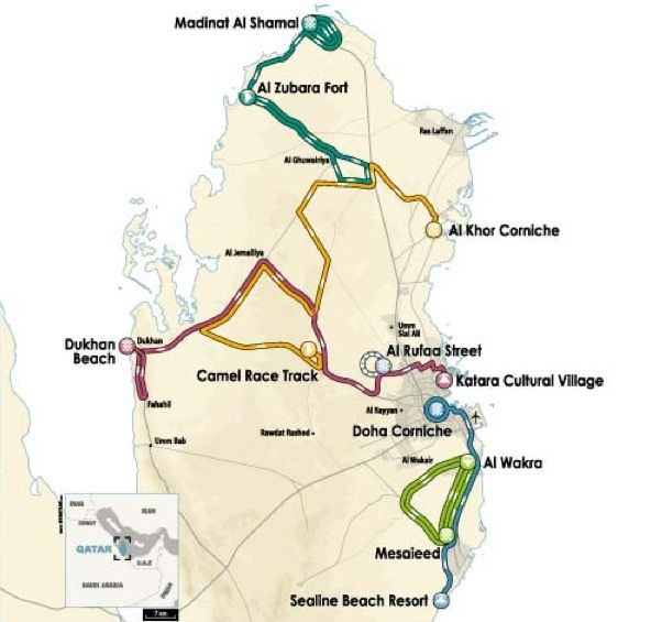 Tour Giro Qatar 2013 tappe percorso
