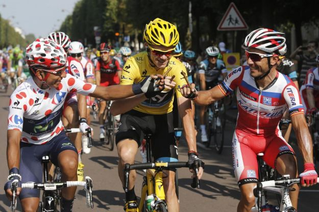 Tour de France 2013 a Chris Froome davanti a Quintana e Purito