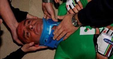 Sei giorni di Milano 2008: bruttissima caduta per Bettini