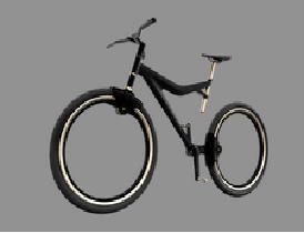 Bicicletta Senza Raggi Alberto Del Biondi Sui Pedali