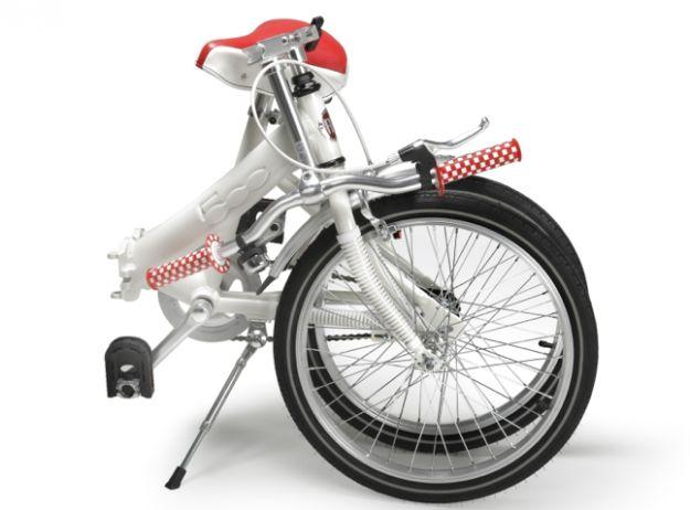 bicicletta fiat pop 500 piegata