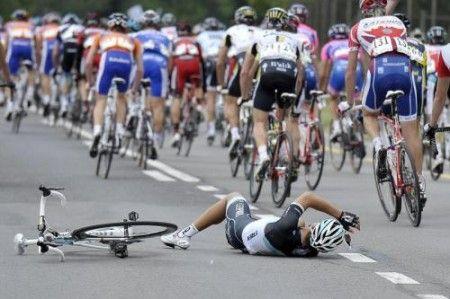 Daniele Bennati cade al Romandia, niente Giro per lui