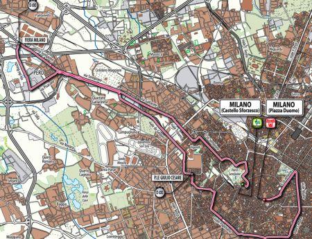 Giro d'Italia 2011: crono Milano, il percorso modificato