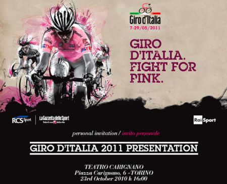 Presentazione Giro d'Italia 2011 a Torino il 23 Ottobre