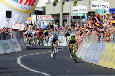 Alberto Contador c'è: secondo dietro Gatto a Tropea