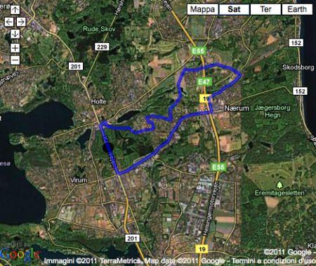 Mondiali di Ciclismo 2011 a Copenhagen: il percorso e l'altimetria