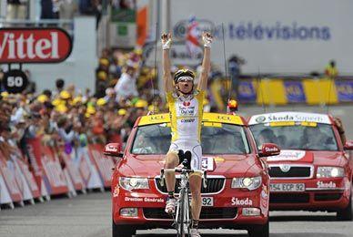 Tour de France 2008 Riccardo Riccò domina la prima tappa pirenaica