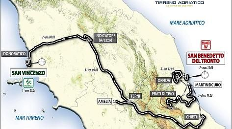 Tirreno Adriatico 2012: tappe e percorso della gara