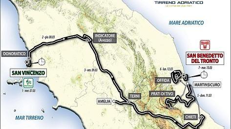 Tirreno Adriatico 2012: tappe e percorso della gara