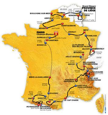 tour de france 2012 tappe percorso ufficiali