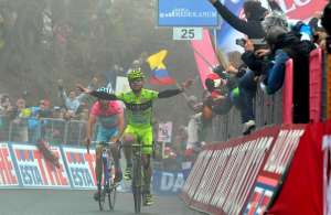 Giro d'Italia 2013, arrivo sullo Jafferau