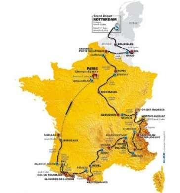 Tour de France 2010 tappe percorsi