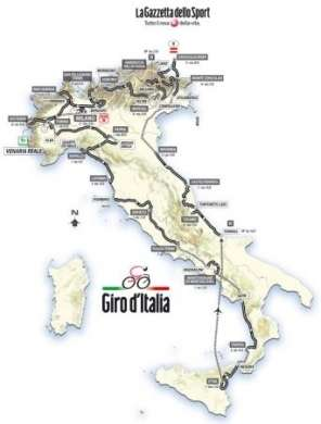 Giro D'Italia 2011 Tappe, percorso e altimetria