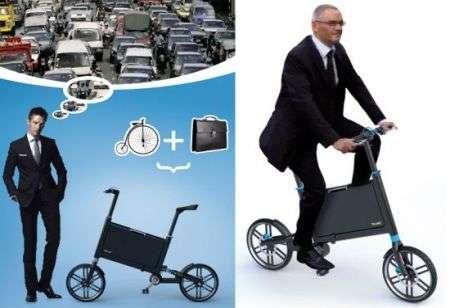 Bici pieghevole valigetta ventiquattrore