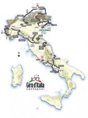 Giro 2009 Percorso