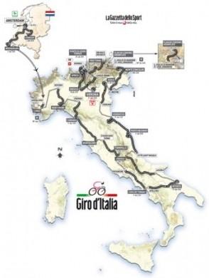 Giro d'Italia 2010 percorso tappe