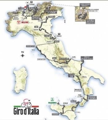 Tappe Giro 2008