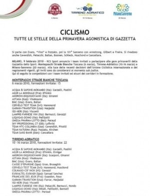 Tirreno Adriatico team