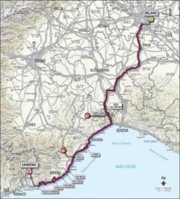 Milano Sanremo 2010: percorso e altimetria