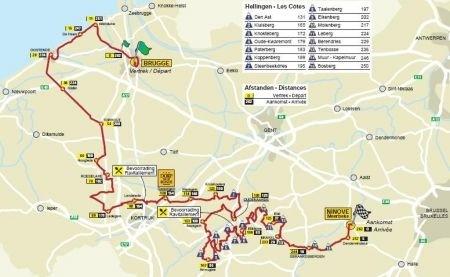 Giro delle Fiandre 2010 percorso e altimetria