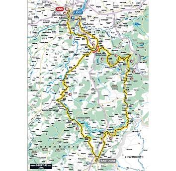 Liegi Bastogne Liegi 2010 percorso