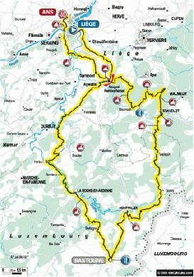 Liegi Bastogne Liegi 2010 planimetria