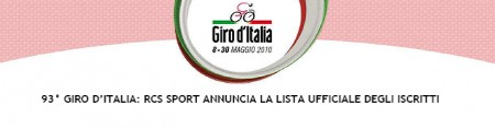Giro d'Italia 2010 squadre ciclisti partecipanti