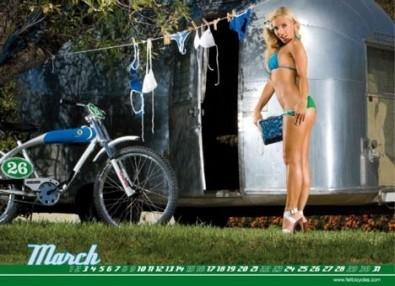 Sexy Cicliste Calendario Giugno