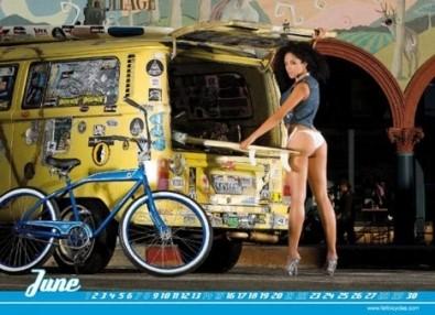 Sexy Cicliste Calendario Settembre