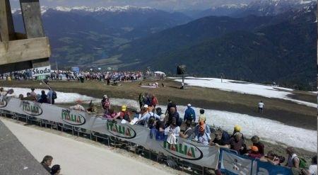 Plan de Corones al Giro d'Italia 2010 tornanti