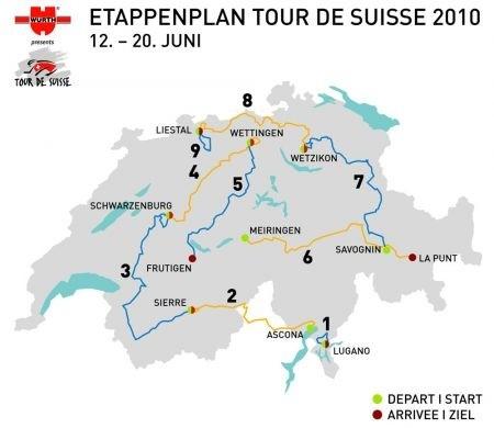 Giro della Svizzera 2010: tappe e percorso, prime frazioni a Cancellara e Haussler