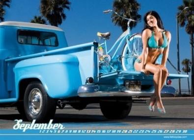 Sexy Cicliste Calendario Dicembre
