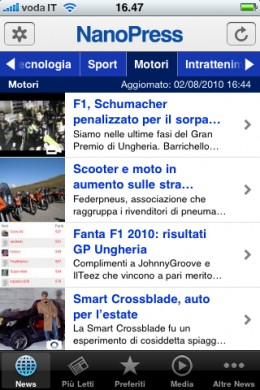 App Nanopress iPhone 4 news