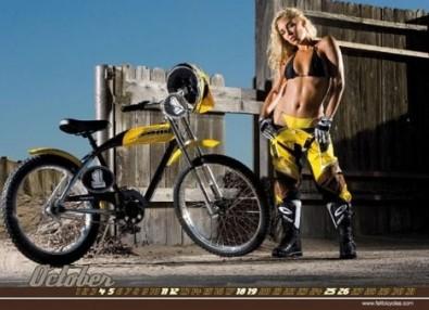 Sexy Cicliste Calendario Febbraio