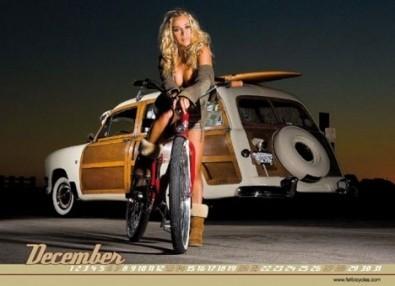 Sexy Cicliste Calendario Aprile
