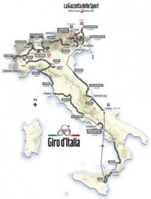 Giro d'Italia 2011: tappe e percorso ufficiali