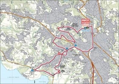 Mondiali 2008 Ciclismo a Varese percorso