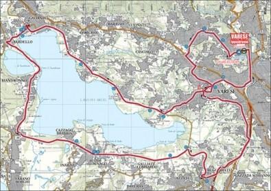 Mondiali 2008 Ciclismo a Varese percorso cronometro