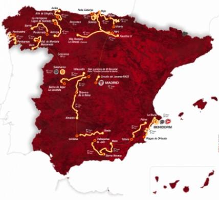 Vuelta di Spagna 2011: tappe, percorso e altimetrie delle salite