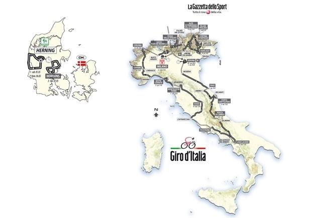 Giro d'Italia 2012: le tappe e il percorso ufficiali!