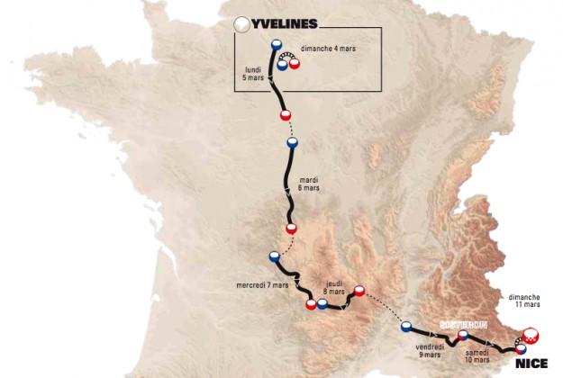 Parigi Nizza 2012: tappe e percorso della corsa francese