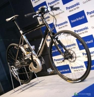 Panasonic Titanium Flat Road EB bicicletta