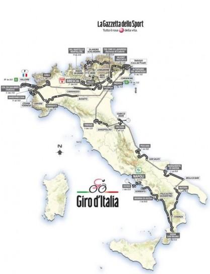 Giro d'Italia 2013 tappe percorso