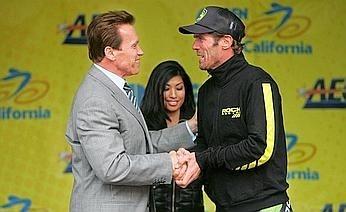 Cipollini e Schwarzenegger